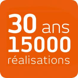 15000 réalisations depuis 25 ans